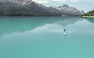SUP Stand Up Paddle Silvaplana Engadin